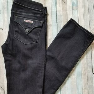 Hudson Dark Wash Carly Straight Jeans